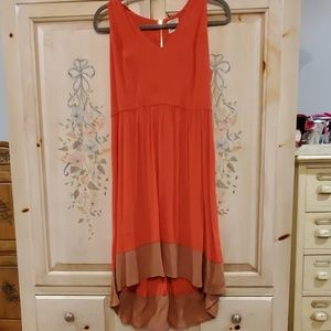 Rayon dress coral NWOT